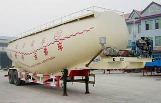 Bulk powder tank trailer and refueling tanker